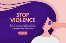 Stop Domestic Violence. Woman ...