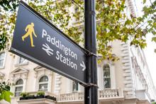 London- Paddington Station Directional Sign