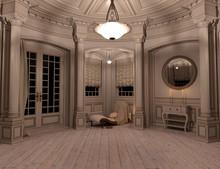 3D Rendering Rural Chateau
