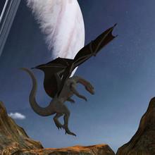 Illustration Of A Dragon Landi...