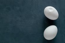 Two White Broken Chicken Eggs ...