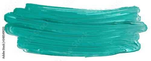 acrylic paint stain green aquamarine Canvas Print