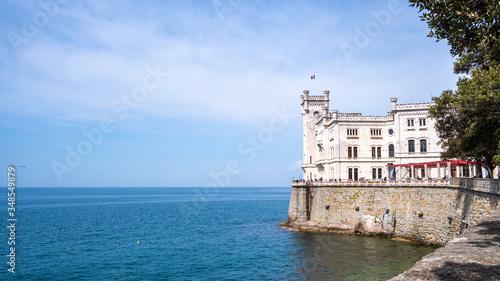 Das Schloss Miramare an der Adria bei Triest in Italien Canvas Print