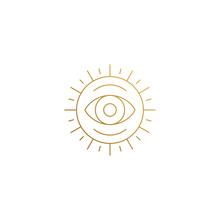 Vector Emblem Of Sun With Eye ...