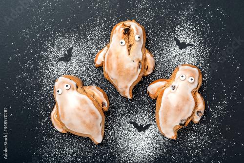 Halloween Geister Brötchen Canvas Print