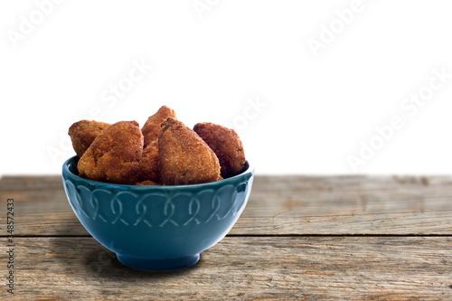 Brazilian appetiser deep fried chiken - Coxinha de frango Wallpaper Mural