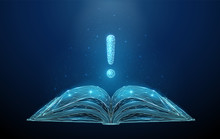 Abstract Low Poly Open Book Wi...