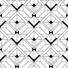 Fototapeta Art Deco Art Deco Pattern. Vector black white background