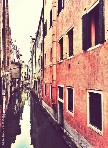 Fototapety, obrazy: View Of Canal Along Buildings