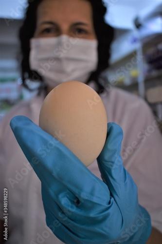 Fotomural venta de huevos