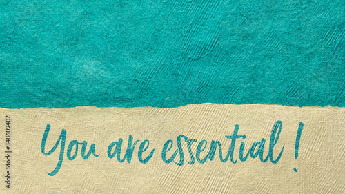you are essential - positive affirmation Wallpaper Mural