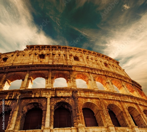 colosseum in rome italy Canvas Print