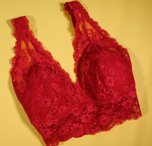 A Set Of Red Women Lingerie On...