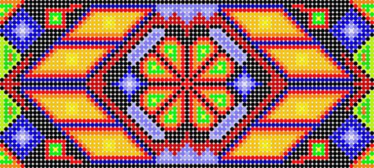 huichol art background in vector format