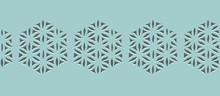Abstract Geometric Hexagon Pat...
