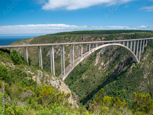Canvas-taulu Bungy jumping Sports in South Africa in Canyon