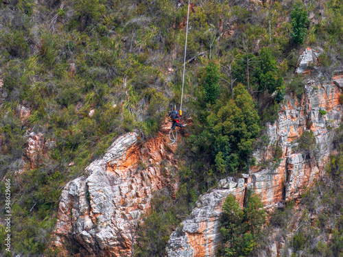 Foto Bungy jumping Sports in South Africa in Canyon