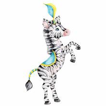 Cartoon Circus Zebra; Watercol...