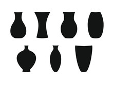 Set Of Silhouette Vases And Bo...