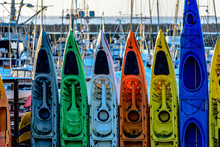 Kayaks In A Row
