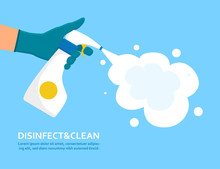 Disinfect And Clean Concept Wi...