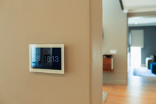 Digital Home Automation Displaying Date And Time