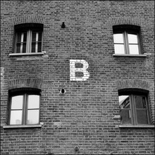 Low Angle View Of Letter B On Building