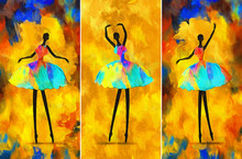 Painting African Girl Ballerin...