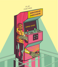 Arcade Machine. 80 Decade Fixe...