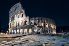 Colosseum In The Night Without...