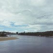 River Against Cloudy Sky