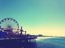 Elevated View Of Ferries Wheel...