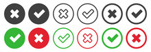 Checkmark Icons Set For Web De...