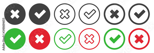 Photo Checkmark icons set for web design