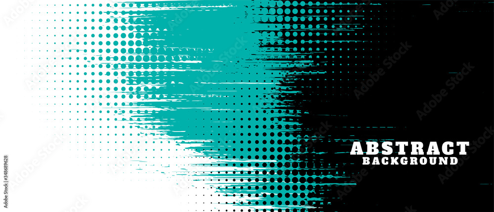 Fototapeta abstract grunge texture and halftone banner design