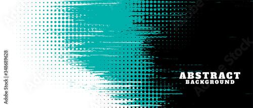 Fototapeta abstract grunge texture and halftone banner design obraz