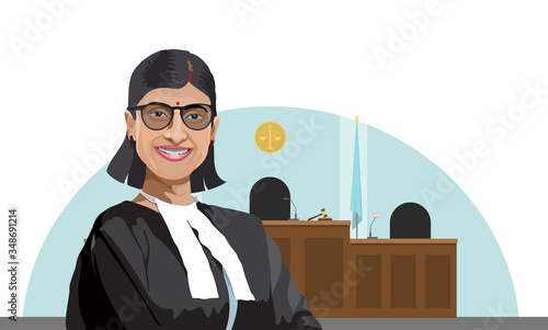 illustration of Advocate in the court Canvas Print