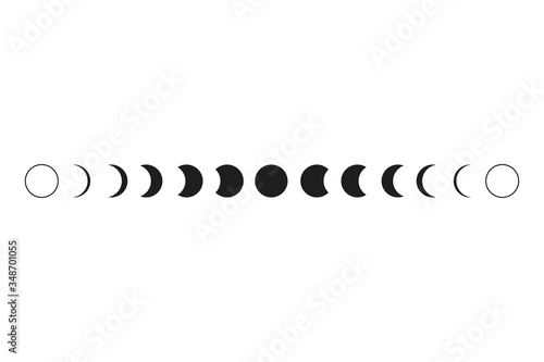 Photo Moon phases. Vector illustration. Symbols of the moon.
