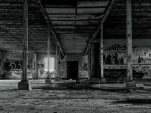 Graffiti On Walls Of Abandoned Building