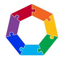 Seven Part Heptagon Puzzle Gra...