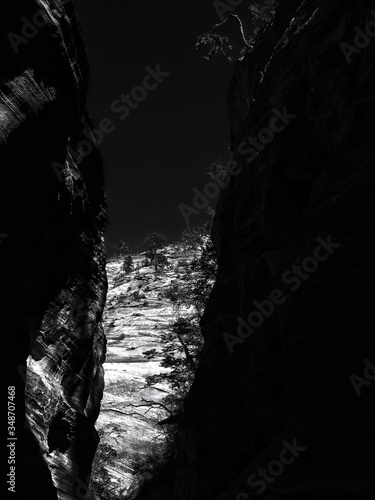 Canvas Print Scenic View Of Steep Cliff