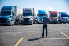 Truck Driver Carries A Shoppin...
