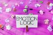 Leinwandbild Motiv Text sign showing Emotion Logic. Business photo showcasing Heart or Brain Soul or Intelligence Confusion Equal Balance