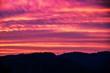 Leinwandbild Motiv Silhouette Landscape Against Sunset Sky