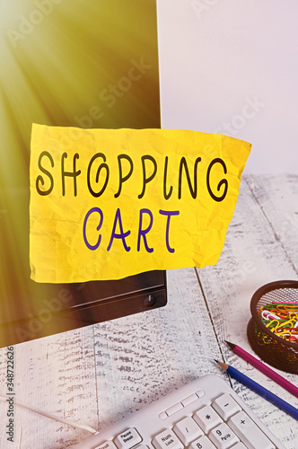 Photo Text sign showing Shopping Cart
