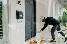 Food Delivery Man Practicing S...