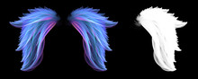 Soft Blue Colorful Angel Wings With Clipping Mask