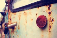 Close-up Of Rusty Car Door