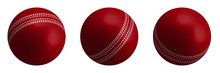 Red Cricket Ball In Realistic ...