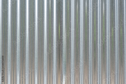 Metal sheet corrugated galvanized profile texture, background. Canvas
